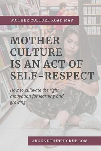 What is the difference between self-care and mother culture? One is a nice extra if you can afford it. The other is a necessary to our well-being as eating healthy meals throughout the day.