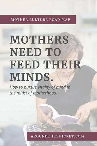 Motherhood can bring more mind-numbing repetition than you could imagine. But our minds are not meant to be numb, but places of vitality. In the words of Charlotte Mason, education is a life for moms, too.