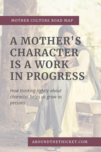 Mother culture isn't about becoming smart or clever. We have to connect mother culture with the bigger picture of education: developing a godly character.